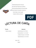 lectura de carta instrucion militar  cuarto semestre