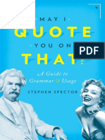May I Quote You on That - A Guide to Grammar and Usage - 1st Edition (2015)