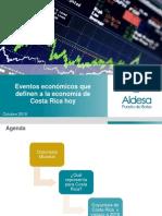 Eventos económicos que definen a la economía de Costa Rica hoy