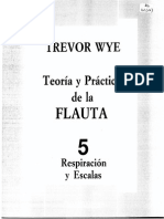 Teoría y practica de la Flauta 5 (Respiración y Escalas) - Trevor Wye