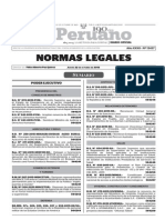 Normas Legales, jueves 22 de octubre del 2015