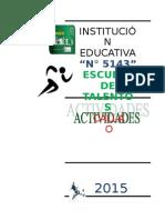 (640988823) Actividades y Test Del Atletismo en La Escuela de Talentos
