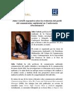 Julia Corbett expondrá sobre la evolución del perfil del comunicador ambiental en Conferencia #PerDebate15