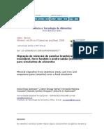 CiênciaeTecnologiadeAlimentos-Migraçãodemineraisdepanelasbrasileiras
