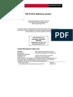 Hilti HVU Adhesive Anchor