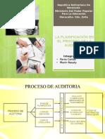 La Planificación en El Proceso de La Auditoria