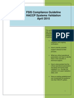 HACCP Systems Validation