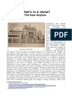 What's in a Name? - The Kew Asylum