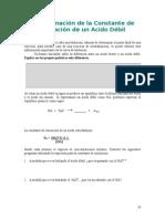 Lab 7 Constante de Ionizacion de Un Acido Debil