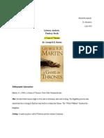 literary analysis fantacy book
