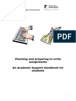 How to Preparing to Write Assignments