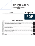 2008 Chrysler Aspen Owner's Manual