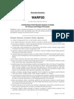 Executive Summary, WARP 3D