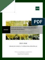 Guía de Estudio Comunicación Oral y Escrita 2015-2016