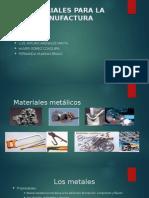 Materiales Para La Manufactura