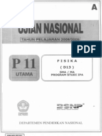 Soal Fisika Un Sma 2009 Ipa p11 &p44