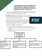 CONFORMACIÓN DE LA IDENTIDAD PERSONAL