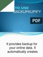 How to Use Backupify