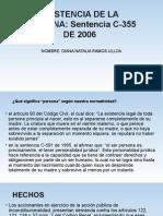 Sentencia C-355 de 2006 resumen, analisis juridico