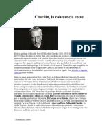 Teilhard de Chardin Ciencia y fe