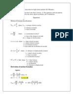 High School Physics Cheat Sheet