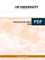 Intro to Productions & Operations Management
