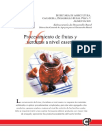 Procesamiento de Frutas y Verduras a Nivel Casero