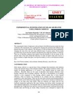 Experimental Investigation of Solar Air Heater Using Porous Medium Pk