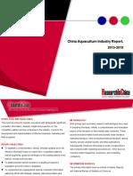 China Aquaculture Industry Report, 2015-2018
