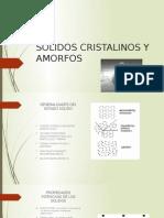 Solidos Cristalinos y Amorfos