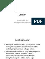 Contoh Analisis Faktor