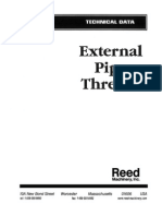External Pipe Threads Tech Data Master