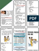 Leaflet Imunisasi Pada Anak