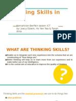 thinking skills and ict  kemahiran berfikir dalam ict