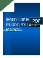 Identificación y evaluación de riesgos IPER