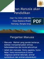 Manusia & kebutuhan akan Pendidikan (1).ppt