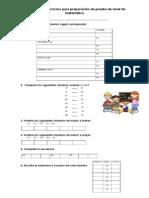 Guía de Estudio Para Preparación de Prueba de Nivel de Matemática