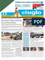 Edición Impresa El Siglo 23-10-2015