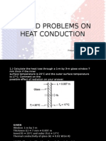 Solved Problems on Conduction