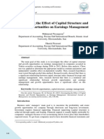 The Effect of Growth Opportunities and Capital Structure to Earning Management