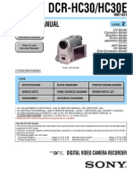 DCRHC30 -Sony manual
