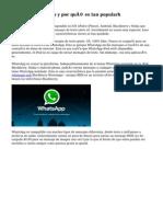 Qué es WhatsApp y por qué es tan popularh