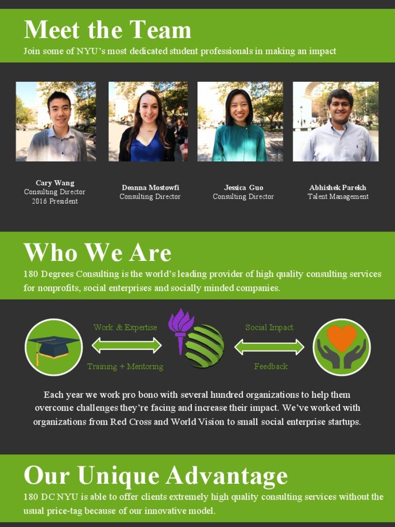 180 Degrees Consulting NYU - Recruitment Presentation