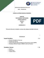 Manual Pentadbiran Instrumen Saringan Literasi Menulis Tahun 1