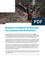Response to Nepal's Earthquake