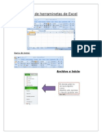 Barra de Herraminetas de Excel