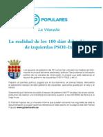 La realidad de los 100 días del gobierno de izquierdas PSOE-IxLV