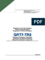 Manual Regulador de Tensão Grt7 Tr2