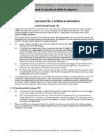 Physics Mark Scheme