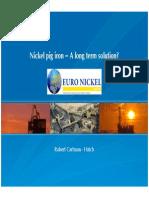 Nickel Pig Iron Long Term Solutions(1)